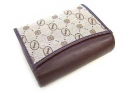 Coordinates2(コーディネート2) 二つ折り財布(小銭入れあり) 「ゴールドファイル」 GP52216 チョコ 裏面