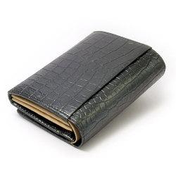 COCCO(コッコ) 二つ折り財布(小銭入れあり) 「ル・プレリー」 NP25110 クロ 裏面