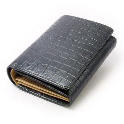 COCCO(コッコ) 二つ折り財布(小銭入れあり) 「ル・プレリー」 NP25110 クロ 正面