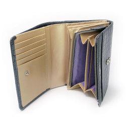 COCCO(コッコ) 二つ折り財布(小銭入れあり) 「ル・プレリー」 NP25110 クロ 特徴