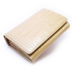 COCCO(コッコ) 二つ折り財布(小銭入れあり) 「ル・プレリー」 NP25110 シャンパンゴールド 正面