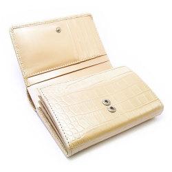 COCCO(コッコ) 二つ折り財布(小銭入れあり) 「ル・プレリー」 NP25110 シャンパンゴールド 内作り