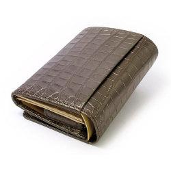 COCCO(コッコ) 二つ折り財布(小銭入れあり) 「ル・プレリー」 NP25110 チョコ 裏面