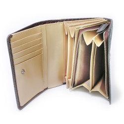 COCCO(コッコ) 二つ折り財布(小銭入れあり) 「ル・プレリー」 NP25110 チョコ 特徴