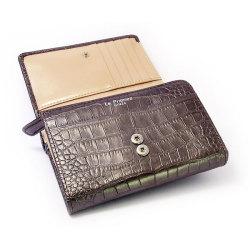 COCCO(コッコ) 二つ折り財布(小銭入れあり) 「ル・プレリー」 NP25110 チョコ 内作り