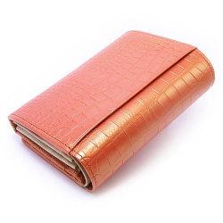 COCCO(コッコ) 二つ折り財布(小銭入れあり) 「ル・プレリー」 NP25110 オレンジ 裏面