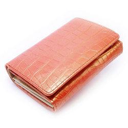 COCCO(コッコ) 二つ折り財布(小銭入れあり) 「ル・プレリー」 NP25110 オレンジ 正面