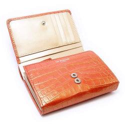 COCCO(コッコ) 二つ折り財布(小銭入れあり) 「ル・プレリー」 NP25110 オレンジ 内作り