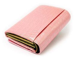 COCCO(コッコ) 二つ折り財布(小銭入れあり) 「ル・プレリー」 NP25110 ピンク 裏面
