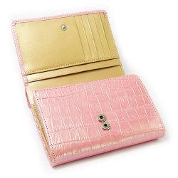 COCCO(コッコ) 二つ折り財布(小銭入れあり) 「ル・プレリー」 NP25110 ピンク 内作り