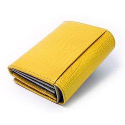 COCCO(コッコ) 二つ折り財布(小銭入れあり) 「ル・プレリー」 NP25110 イエロー 裏面