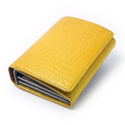 COCCO(コッコ) 二つ折り財布(小銭入れあり) 「ル・プレリー」 NP25110 イエロー 正面