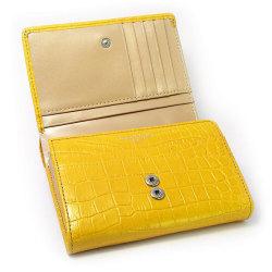 COCCO(コッコ) 二つ折り財布(小銭入れあり) 「ル・プレリー」 NP25110 イエロー 内作り