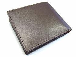 ボックスカーフ ヴェネチアンレザー  二つ折り財布(小銭入れあり)  「プレリーギンザ」 NP56118 チョコ 裏面