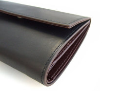 Classico(クラシコ) 三つ折り財布(小銭入れあり) 「プレリーギンザ」 NP57222 クロ 側面