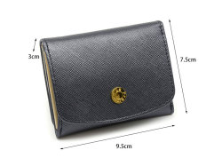 Bijue(ビジュー) コンパクト三つ折り財布(小銭入れあり) 「ル・プレリー 」 NPL1385 サイズ