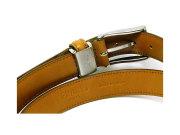 牛革 チャ系色バリエーションベルト 30mm幅 ピン式 「プレリーギンザ」 NB17710 オリーブ 裏面