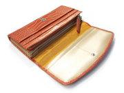COCCO(コッコ) 長財布(小銭入れあり) 「ル・プレリー」 NP25911 オレンジ 内作り