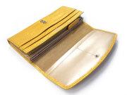 COCCO(コッコ) 長財布(小銭入れあり) 「ル・プレリー」 NP25911 イエロー 内作り