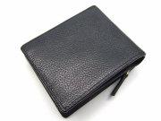 Favor(フェイヴァー) 二つ折り財布(ファスナー小銭入れあり) 「プレリートラディショナルファクトリー」 NPF6212 ブラック 裏面