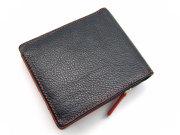 Favor(フェイヴァー) 二つ折り財布(ファスナー小銭入れあり) 「プレリートラディショナルファクトリー」 NPF6212 アカ 裏面