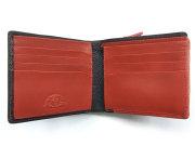 Favor(フェイヴァー) 二つ折り財布(ファスナー小銭入れあり) 「プレリートラディショナルファクトリー」 NPF6212 アカ 内作り