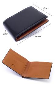 コードバン 二つ折り財布(小銭入れなし) 「プレリー1957」 NP07316 サイズ