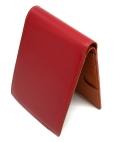コードバン 二つ折り財布(小銭入れなし) 「プレリー1957」 NP07316 アカ 内作り1