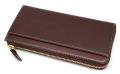 オックスフォード 長財布(L字ファスナー) 「ゴールドファイル」 GP11828 バーガンディ 裏面