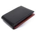 コードバン 二つ折り財布(小銭入れなし) 「プレリー1957」 NP07316 クロ 正面