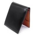 コードバン 二つ折り財布(小銭入れなし) 「プレリー1957」 NP07316 クロ 内作り1