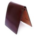 コードバン 二つ折り財布(小銭入れなし) 「プレリー1957」 NP07316 チョコ 内作り1