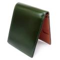 コードバン 二つ折り財布(小銭入れなし) 「プレリー1957」 NP07316 コン 内作り1